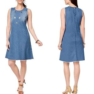 🆕 Style and Co Plus Denim Fray Swing Dress